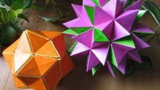 Origami ✿ Revealed Flower ✿ ( PopUp Star) - YouTube