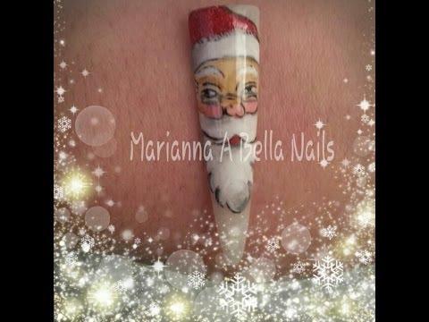 babbo natale nail art / santa claus nail art