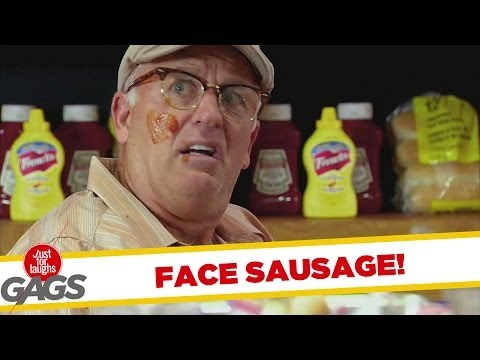 SAUSAGE IN THE FACE PRANK - Youtube