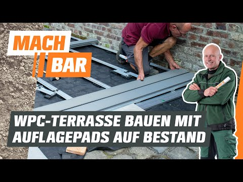 WPC-Terrasse bauen auf Bestandsbelag - mit Auflagepads   OBI