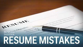 Mistakes People Make On Resumes