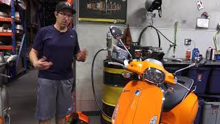 2. 2018 Orange Vespa Sprint 150