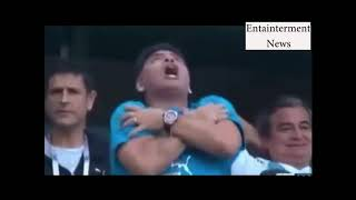 Upadek Maradony na meczu Argentyny! Jego zachowanie nie pozostawia wątpliwości w jakim był stanie!