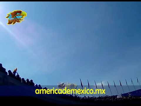 Pumas 0-0 América [Clausura 2018]. Hinchada Azulcrema en CU - Ritual Del Kaoz - América