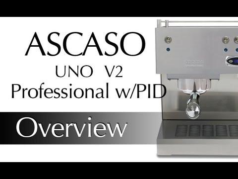 Ascaso Uno Professional w/ PID V2 Espresso Machine Demonstration