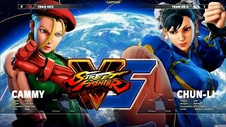 Street Fighter 5 - 3v3 Tournament パート2 Members of Team EG, Razer and Mad Catz go head to head in a 3v3 tournament To...