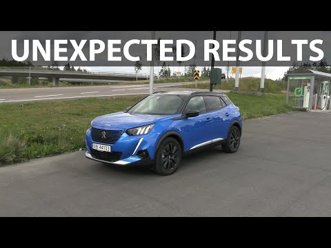 Peugeot e-2008 range test