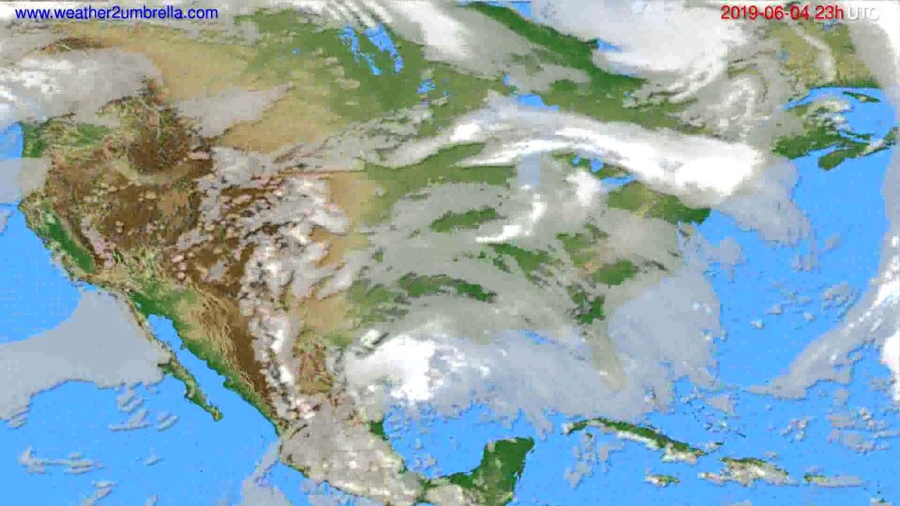 Cloud forecast USA & Canada // modelrun: 12h UTC 2019-06-01