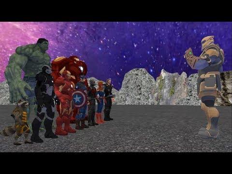 Thanos vs Avengers, Part-2 , ( Thanos vs Ironman , Captain Marvel, Hulk, Thor, Racoon)