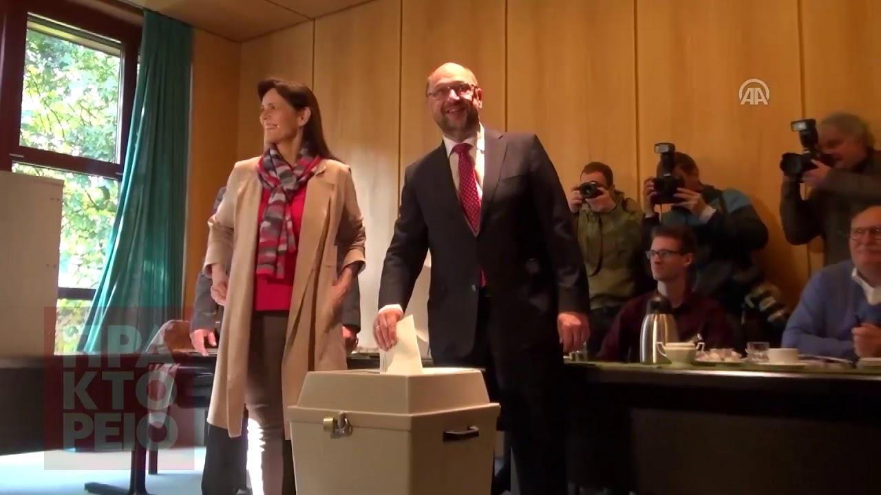 Εκλογές Γερμανία 2017: Ψήφισε ο Μάρτιν Σούλτς
