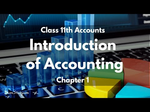 Introduction To Accounting: Class 11 XI Accounts | Video Lecture