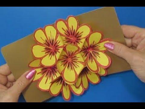 Зд открытка с цветами 86