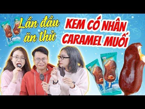 Lần đầu ăn thử kem có nhân Caramel Muối bên trong ! - Thời lượng: 4 phút, 21 giây.