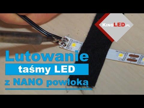 Lutowanie taśmy LED z NANO powłoką