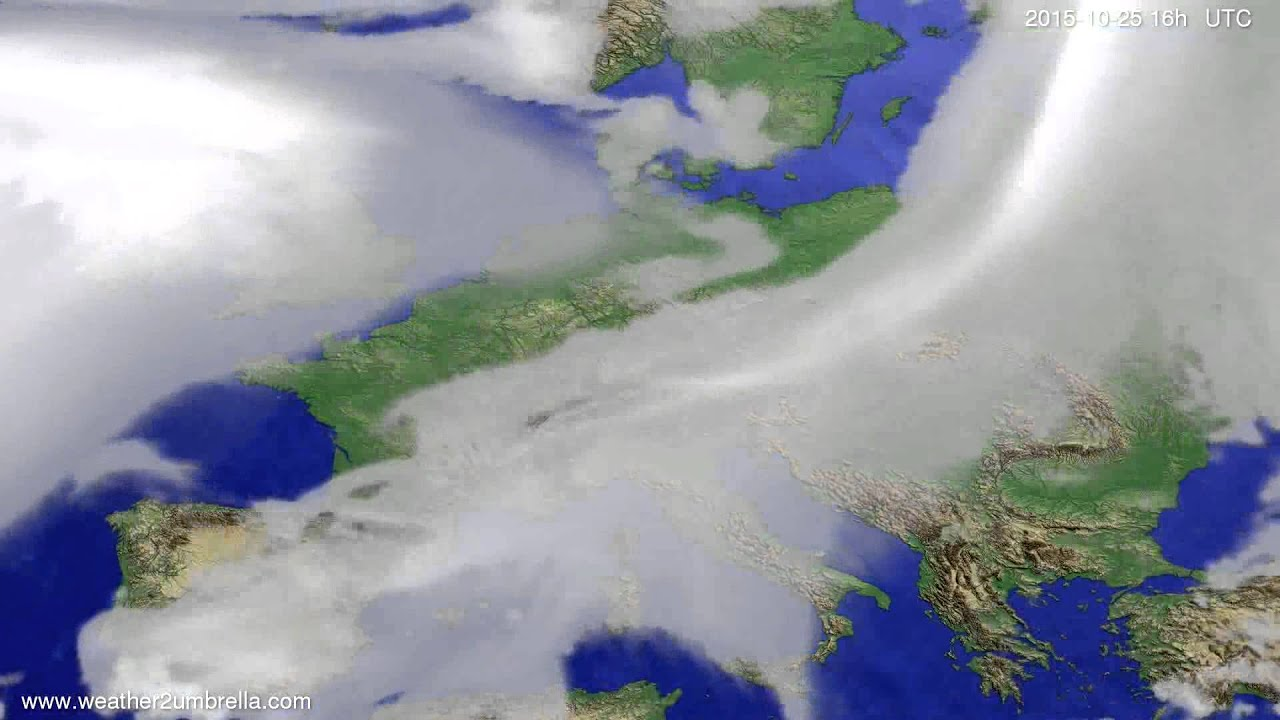 Cloud forecast Europe 2015-10-22