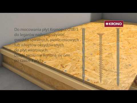 Poradnik-instrukcja montażu podłogi z płyt Kronopol OSB/3