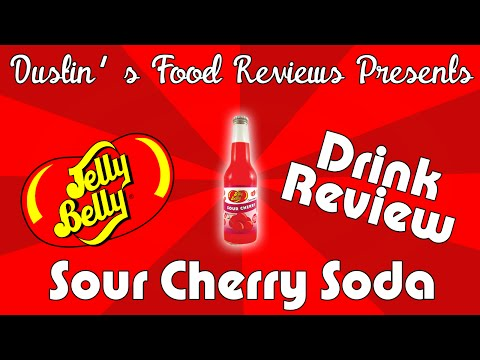 Jelly Belly: Sour Cherry Soda Drink Review!