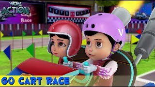 Video Vir The Robot Boy | Hindi Cartoon For Kids | Go Cart Race | Animated Series | WowKidz Action MP3, 3GP, MP4, WEBM, AVI, FLV April 2019