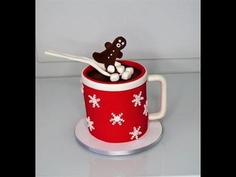 Cake decorating tutorials | how to make a gingerbread man hot chocolate mug cake | Sugarella Sweets