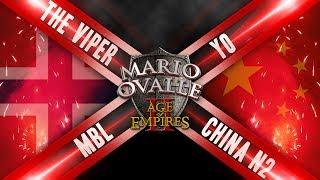 TREMENDO JUEGO. VIPER Y MBL SE VEN LAS CARAS VS LOS DOS MEJORES DE CHINA, ARABIA 2 VS 2 INGLESES Y JAPONESESDONACION, SI TE DIVIERTE Y LA PASAS BIEN CON LO QUE HAGO PUEDES APOYARME AQUI ( https://www.paypal.me/apoyaralcanalmario )FANPAGEhttps://www.facebook.com/Mario-Ovalle-1200082810100030/grupo de Facebook: https://www.facebook.com/groups/AgeOfempiresvoobly/?ref=bookmarks únanse al grupo gente a toda hora mas videos y solución de problemasmi Facebook: https://www.facebook.com/profile.php?id=100010532173890 pueden consultar y hablar con migo además de estar enterados de todo que sucede nuevos videos encuestas y demás