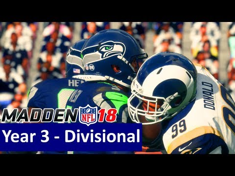 Madden 18 Los Angeles Rams Franchise - vs Seattle Seahawks, Y3 Divisional