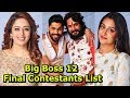 BIG BOSS 12 -  Confirmed Contestants List 2018