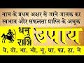 Dhanu Rashi 2017, Sagittarius Sign 2017, Name First Letter Based Rashi System 2017