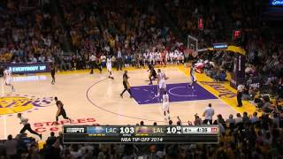 Jeremy Lin waves off Kobe Bryant and scores!