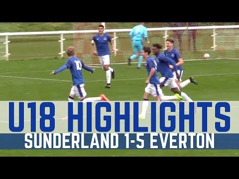 Video: U18S HIGHLIGHTS: SUNDERLAND 1-5 EVERTON