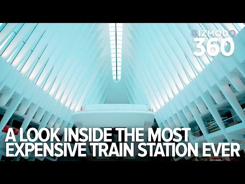 A 360  look inside NYC s new 4 billon dollar World Trade Center Transit