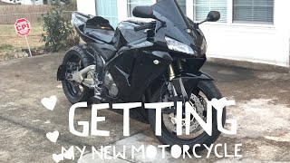 3. Getting My New Motorcycle ( 2006 Honda CBR 600RR )