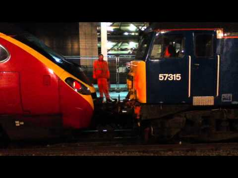57315 Coupling Up To Pendolino 390034 At Preston Railway Station 26/06/2012