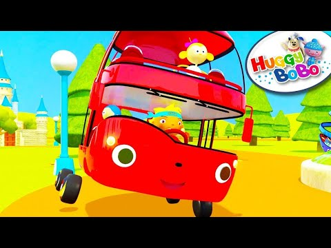 Wheels On The Bus | Episode 1 | Nursery Rhymes | By HuggyBoBo