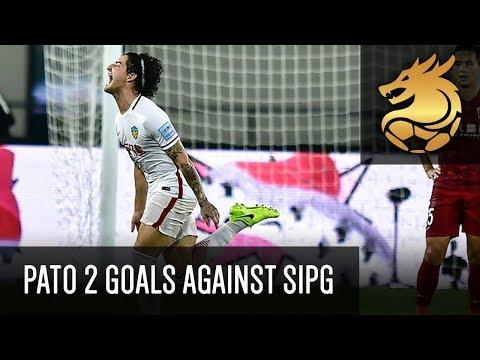 Alexandre Pato scoring 2 great goals against Shanghai SIPG! | HD | Quanjian 3-0 SIPG