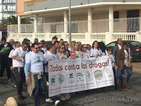 """XXII Marcha Popular """"Todos contra las Drogas"""" Celebrada en Isla Cristina"""