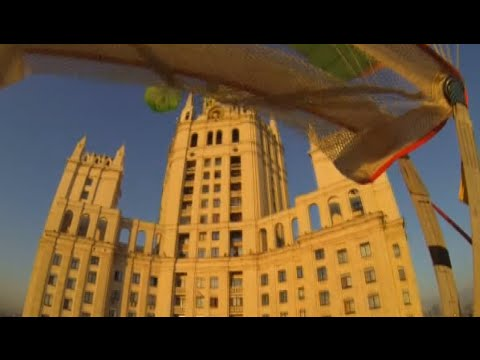STAR - Moscow police made public Go-Pro footage shot by the possible painters of a star on the iconic Stalin skyscraper in downtown Moscow. Police detained a group of four daredevils, who parachuted...