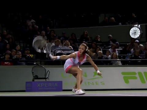 Puntazo de tenis femenino
