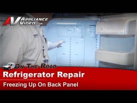 Samsung Refrigerator Repair – Not cooling properly, freezing up on the back panel – RF266AEPN