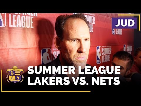 Video: Coach Jud After Lakers Beat Nets, Headed To Summer League Semifinals