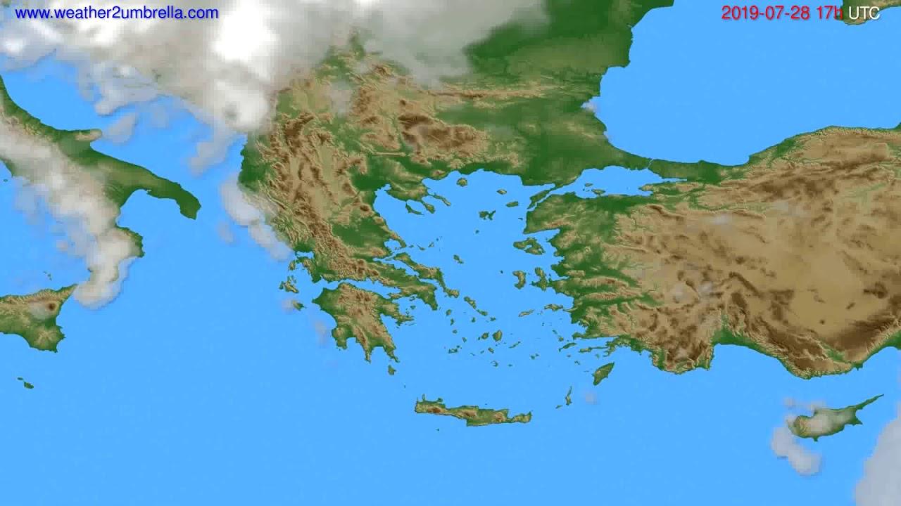 Cloud forecast Greece // modelrun: 00h UTC 2019-07-27