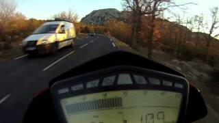 5. DUCATI Hypermotard 1100 EVO SP - GOPRO HD - Pic Saint Loup Mountain - France