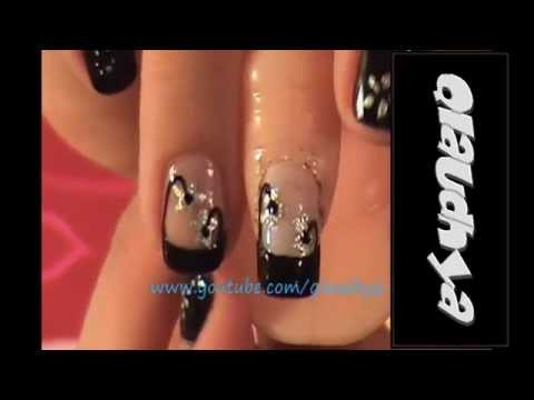 manicure flores - Thanks for watching Gracias por mirar.