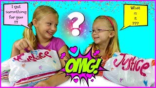 Magic Box Toys Collector presents: The Shopping Challenge / $50 Outfit Challenge with Francesca and Leah. Today we will be doing something super awesome! We will be going to a Justice Store  with $ 50 in our hands and will try to find cool outfit for the other person. Which outfit do you like better? Please post your comments below and enjoy the show! Thank you again for visiting and please don't forget to share this video with your friends and family : )SUBSCRIBE BUTTON:http://www.youtube.com/c/MagicBoxToysCollectorSurpriseToysSurpriseEggsPlayDohOrbeezHere are our other videos:SHOPKINS SURPRISE EGGS Shopkins Season 4 Sweet Spot Gumball Machinehttps://youtu.be/8zMECGvTPbYBIGGEST SURPRISE EGG Ever! Surprise Toys Eggs Shopkins My Little Pony Doc McStuffins Palace Petshttps://youtu.be/FNLljRlyyvoSURPRISE TOYS GIANT BALLOON POP GIVEAWAY WINNERS ANNOUNCEMENThttps://youtu.be/f02dWmqYwnkBABY ALIVE Snackin' Lily Baby Doll Eats Play-Doh Baby Alive Doll Picnic Brushy Brushy Baby Dollhttps://youtu.be/uxG9NP66IZEDOC McSTUFFINS Pet Vet New Toys Make Me Better Playset Hallie Gets a Color Changing Casthttps://youtu.be/qZ187FqMQWMSHOPKINS SEASON 4 12-Pack Shopkins Season 4 5-Pack Shopkins Season 4 Blind Basketshttps://youtu.be/tIGh0q2fCnkSOFIA THE FIRST Royal Family New Outfits SOFIA THE FIRST Royal Carriage * Carrosse Royalhttps://youtu.be/p9g67lam550MY LIFE AS a School Girl Doll * My Life as a Pop Star Play Set and Accesorieshttps://youtu.be/vPmz1Qfk5QILalaloopsy Girls Candle Slice O'Cake Frosting Dough Decorating Craft Doll * Style'N'Swap Dollhttps://youtu.be/HJTSlOpV6q4BABY ALIVE Better Now Baby Doll Goes to the Doctorhttps://youtu.be/__Bqnt72rU8MY LITTLE PONY POP FLUTTERSHY COTTAGE  My Little Pony RARITY DRESS SHOPhttps://youtu.be/BU3mhXRd0GESOFIA THE FIRST SURPRISE BACKPACK Sofia the First Shopkins My Little Pony Frozen Palace Petshttps://youtu.be/ZYytCIL9b4kBARBIE ORBEEZ SPA SALON STYLE BARBIE ENDLESS HAIR KINGDOM *Shopkins Season 4 Blind Basketshttps://youtu.be/AgyykfXmFigG