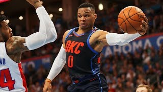 Thunder Blew 15 Point Lead vs Pistons! Westbrook Triple Double! 2017-18 Season