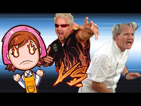 COOKING BATTLE - Cooking Mama VS Guy Fieri VS Gordon Ramsay