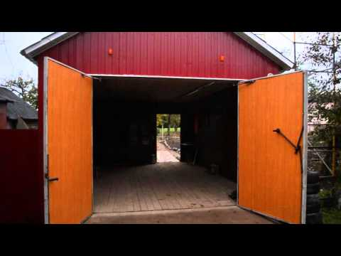 Самодельные автоматические распашные ворота