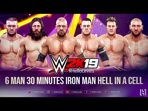 WWE 2K19 6 Man 30 Minutes Iron Man Hell In A Cell Match | WWE 2K19 Gameplay Matches - Hello Levels