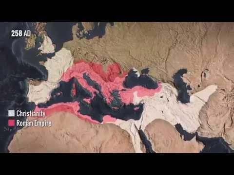 diffusione del cristianesimo dalla fine dell'impero romano ad oggi