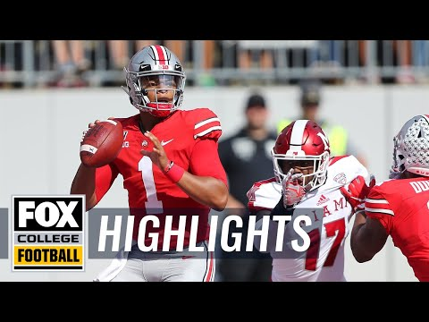Video: Justin Fields' 6 touchdowns lead Ohio State to 76-5 win over Miami | FOX COLLEGE FOOTBALL HIGHLIGHTS