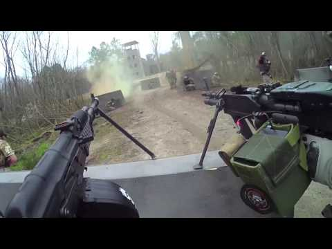 Airsoft - Helmet camera footage from Jet DesertFox from TIm vs Bob 4.5, March 17th, 2013. Highlights in this video; Pink gun combat roll and out of air PolarStar Echo ...
